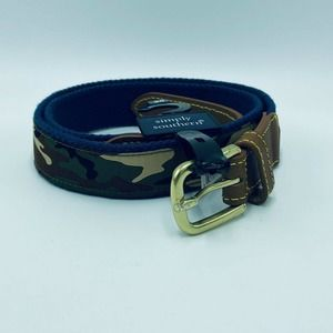 Simply Southern 36 Belt Camo Camoflage Blue Green